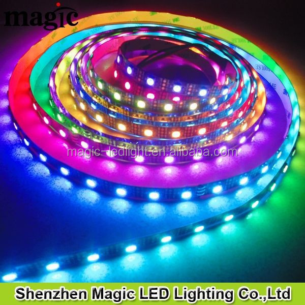 60Pixel/m 60leds/m RGB DC5V WS2811 WS2812 WS2812B LED STRIP LIGHT