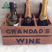 Pine Wooden Wine Single Bottle Holder
