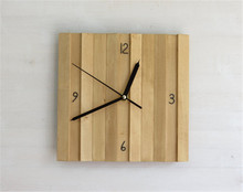 Kitchen Square wood frame wall clock