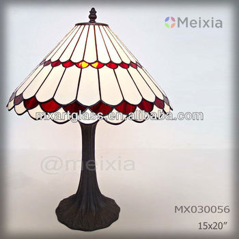 MX000056 china wholesale stained glass tiffany desk lamp for home decoration piece