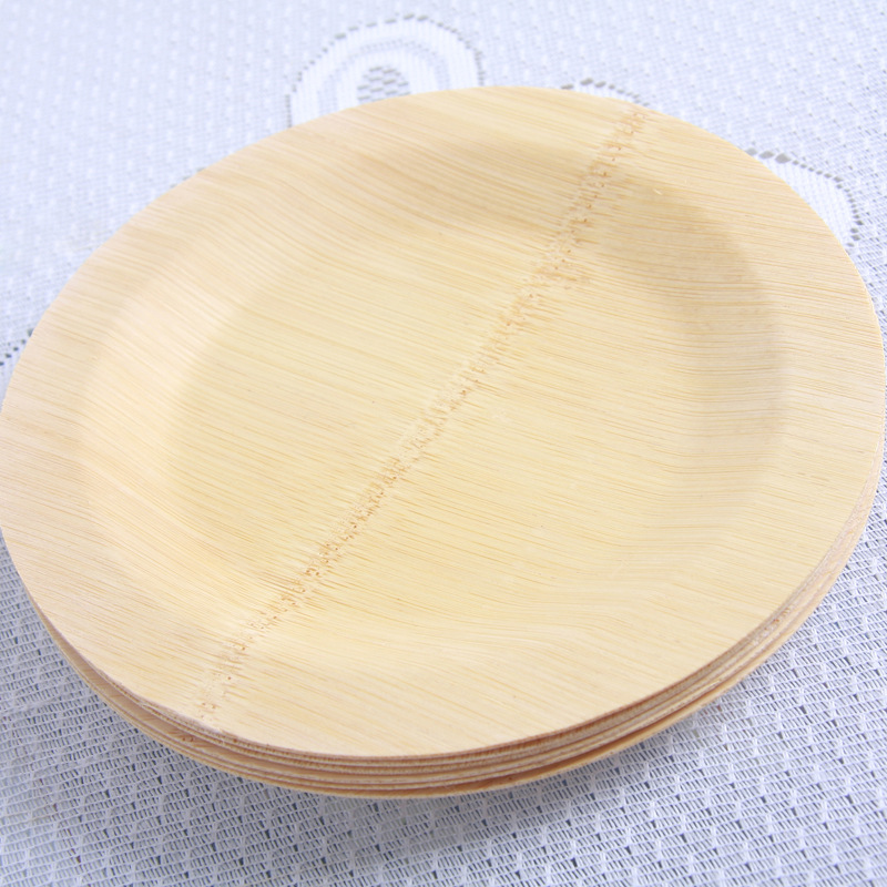 Disposable Party Supplies Plate bamboo tray