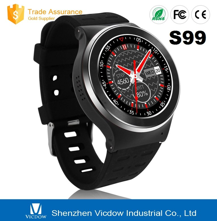 2016 Newest Arrival Bluetooth Smart Watch S99 Android phone With Heart rate SIM WIFI Camera GPRS For IOS