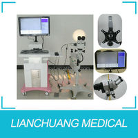 Digital electronic video colposcope with LEICA optical microscope