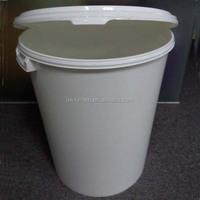 Round shape 15kg pet food container with two handle