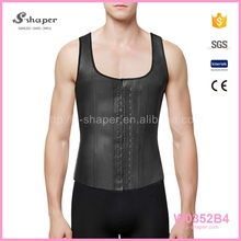 Fashion Slim Sport Men Back Support Latex Corset Vest W0352B4