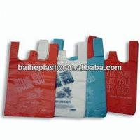 HDPE printed T-SHRT BAG for shopping