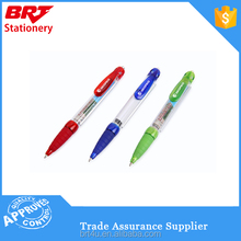shining promotional ball point pen with rubber