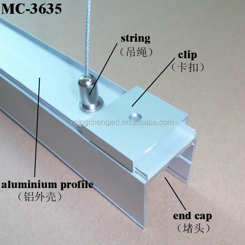 Pendant Housing Led Linear Light Aluminum Office Light Fixture for Office Warehouse Linear Lighting