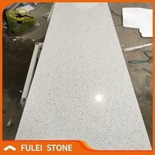 Cheap china artificial sparkle white galaxy quartz stone countertop