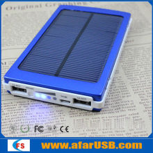 2014 newest high capacity 8000mah solar power bank, solar energy.solar mobile charger