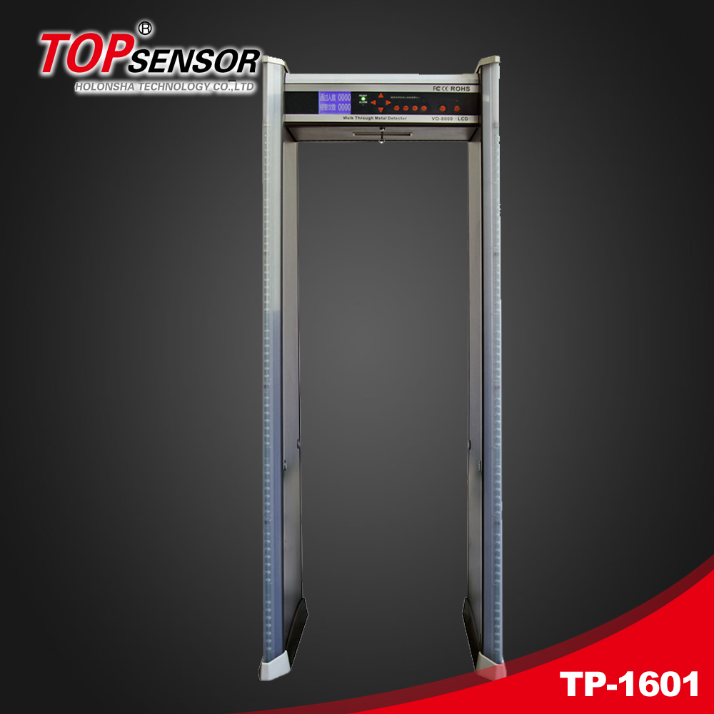 Walk Through Door Frame Metal Detector with16 Detection