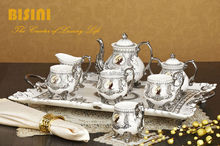 Silver-Edged Medusa Vintage Porcelain Tea Set
