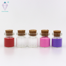 clear glass wishing small drift bottle vials with cork