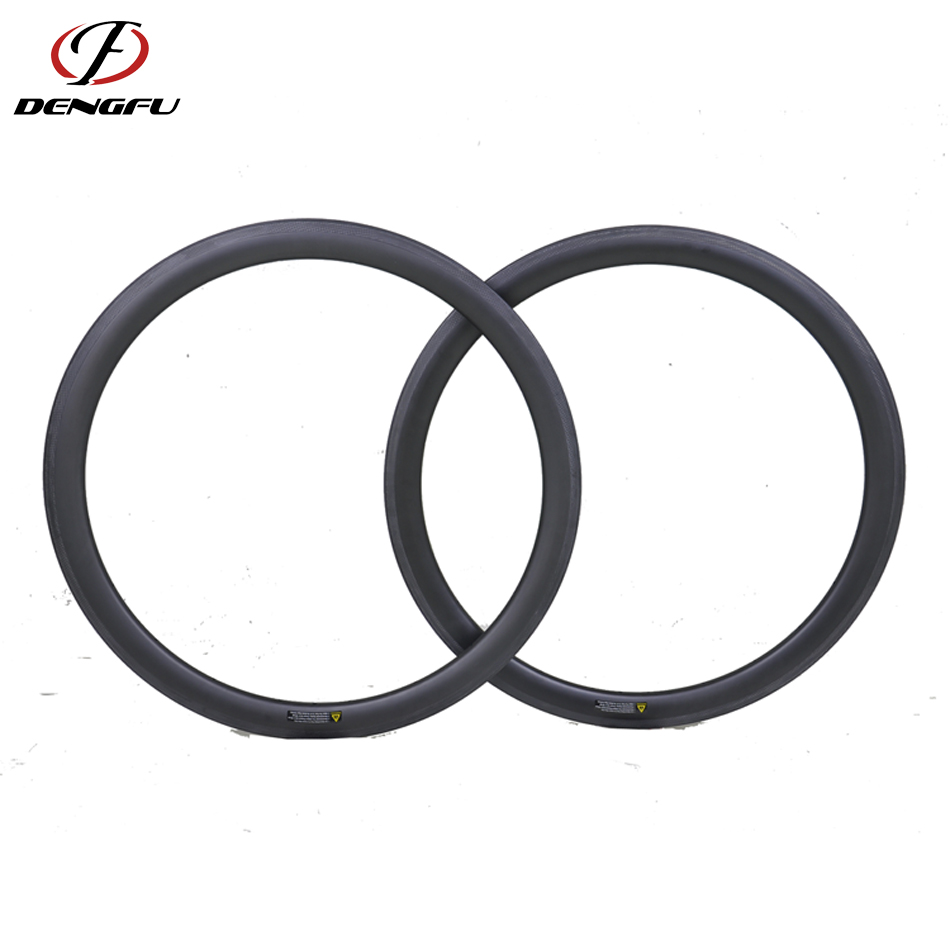46mm tubeless <strong>U</strong> shape road bike carbon wheel rim 700c clincher 25mm wide ud matte glossy <strong>20</strong> 24 28 32 Holes tt bike