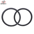 46mm tubeless U shape road bike carbon wheel rim 700c clincher 25mm wide ud matte glossy 20 24 28 32 Holes tt bike