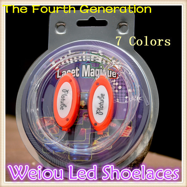 Weiou LED Shoelaces shoelaces Flash Light Up Glow Stick Strap shoe strings Disco Party