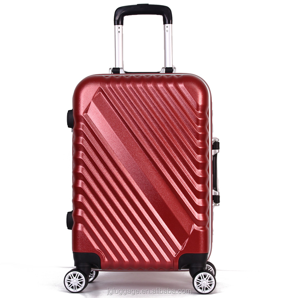 2017 travel trolley aluminum trolley and frame abs pc luggage with Spinner Wheels