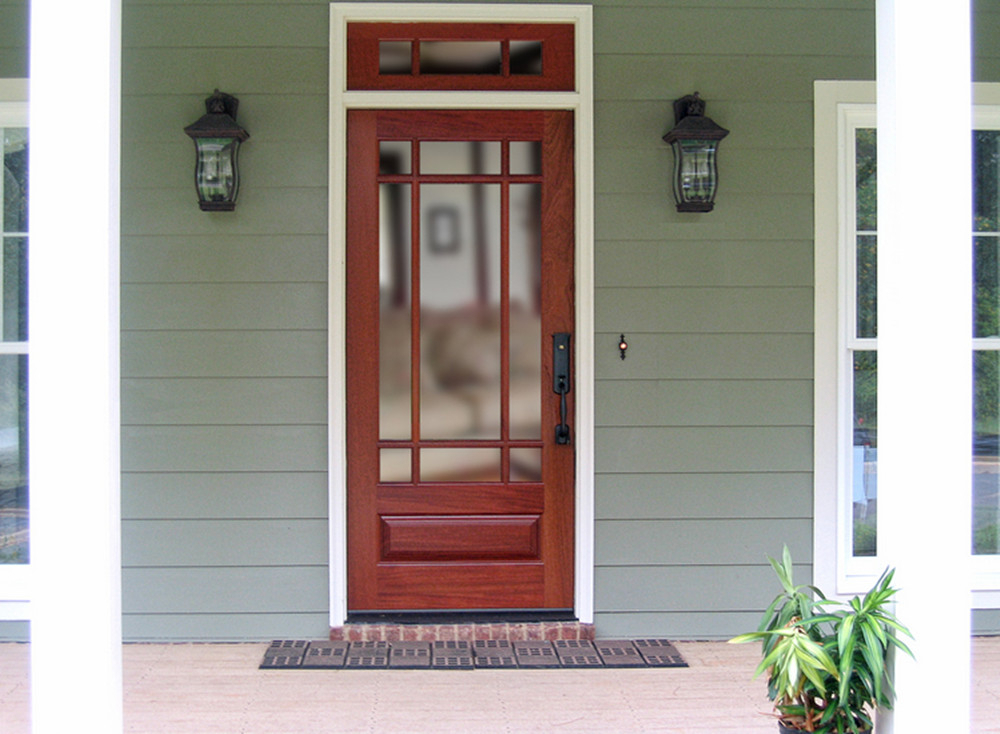Craftsman exterior front entry 9 lite tdl true divided for 9 light exterior door