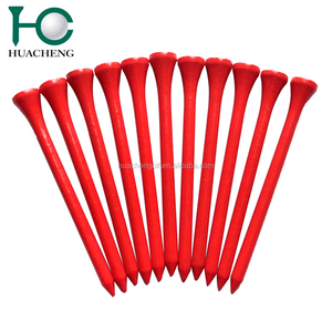 2018 best sellers red custom eco-friendly golf tees wood