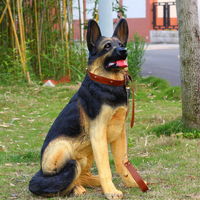 Resin german shepherd life size dog statues