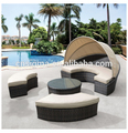 Sigma cheap outdoor furniture rattan daybed sectional sofa bed for sale