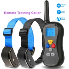 300M Blue Backlit Remote shock dog training collar for two trainers