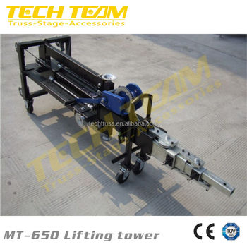 MT-650 portable truss lifting tower light stand truss tower good quality