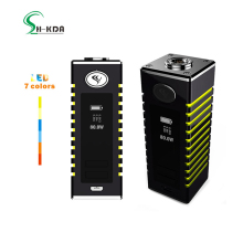2017 UK expo new arrival electronic cigarette 80w vape box mod portable vapor with colorful led lighted