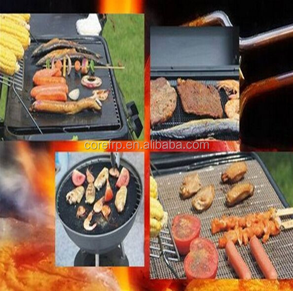 Food grade PTFE non-stick baking mat/oven liners/fiberglass BBQ barbeque best outdoor grill mat for grill