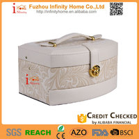 silver plated stainless steel cardboard box for jewelry