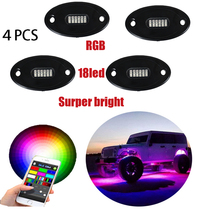4pods Super Bright Color Changing LED RGB Rock Light With Waterproof Bluetooth Controller