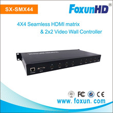 SX-SMX44 HDMI matrix seamless video wall digital signage and solutions and 4x4 switching HDMI Matrix with RS232 , Lan control