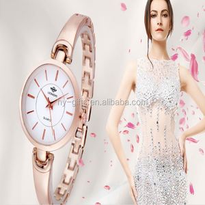 Wholesale Women's Ultrathin Gold Watch High Quality Women's Fashion Watches Waterproof Watch of the Simple Style