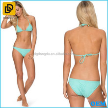 Sexy women halter neckline design triangle bikini with moulded cups