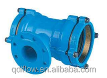 Ductile Iron Double Socket Tee with Flanged Branch Equal and Reducing