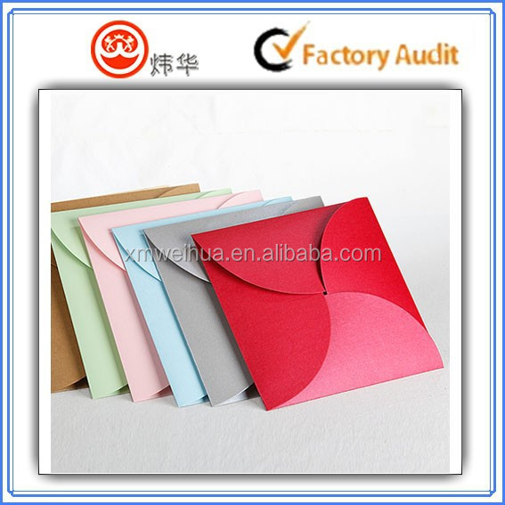 High quality beautiful new design flower opening custom handmade a4 gift paper envelope