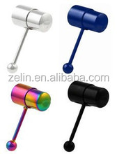 Titanium vibrating tongue barbell body piercing jewelry