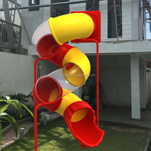 super happy family play time adult kids plastic tube slide for house