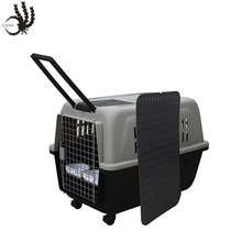 2017 New Handle dragged Large plastic flight dog house 1M pet carrier cage
