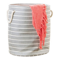 Large Round Storage Bin with Handles - Fabric Storage Boxes