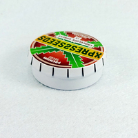 Small Metal Round Click Clack Mint Tin Box In Can,Peppermint sweets Tin Box, Candy Tin Box