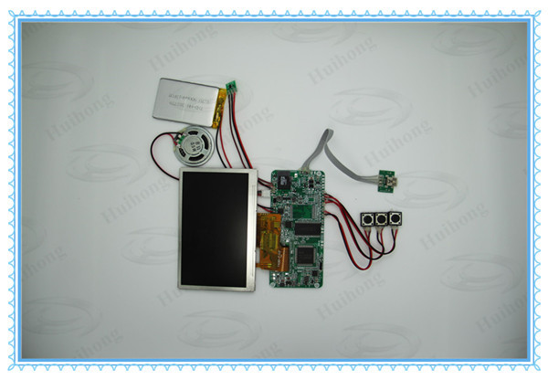 "2.4"", 4.3"", 7"", 10"" video greeting card module, video module for greeting card"