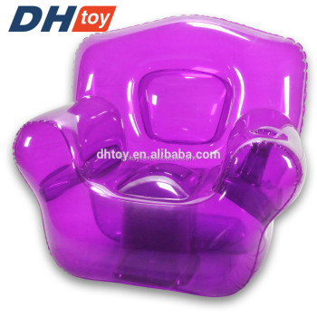 purple personalized inflatable party chair