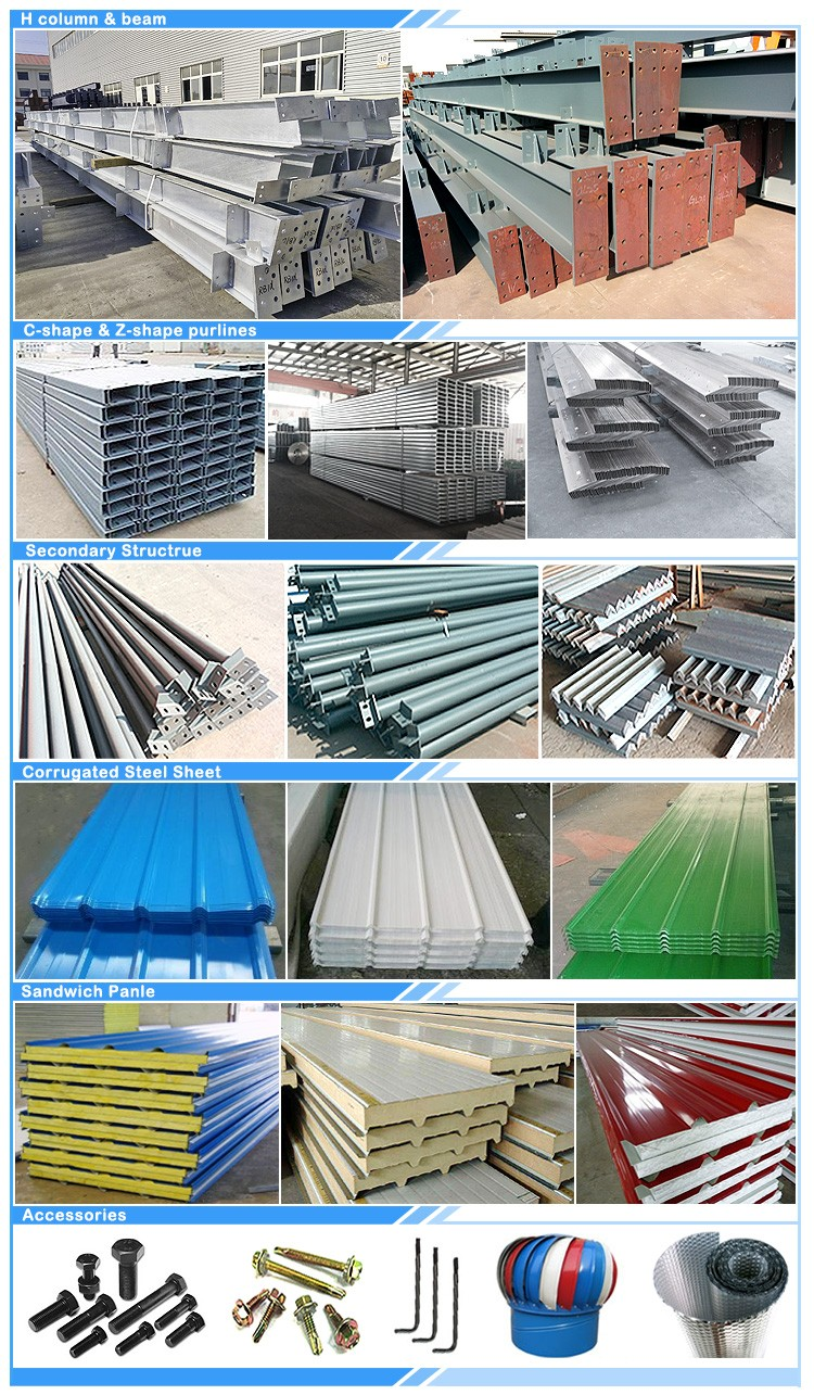 Well designed steel structure easy assembled warehouse real estate