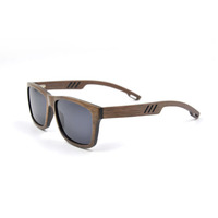 High-end top quality square smoke polarized lens wood sun glasses for trendy man