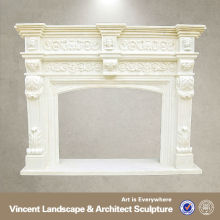 White Granite Fireplace Surrounds, Open Fireplaces VFM-NB048T
