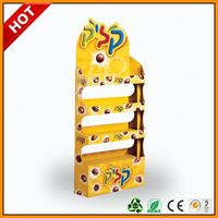 kitkat cardboard chocolate display stands ,kinder bueno chocolate cardboard floor display rack