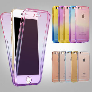 For iPhone 7 Case 360 Shockproof Back+Front Transparent TPU Soft Touch Case Full Protective Phone Cover for iPhone 7 8 9 plus