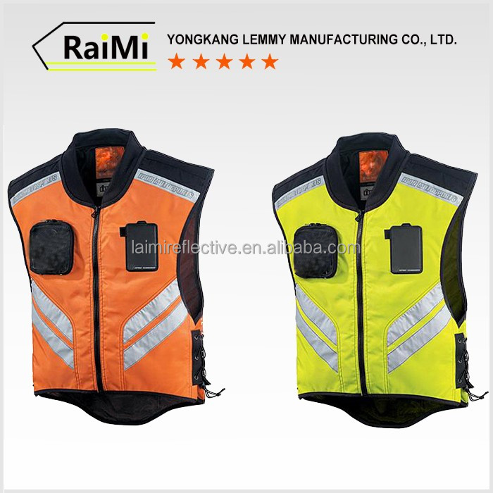 High Grade 100% polyester fabric high visibility vest motorcycle