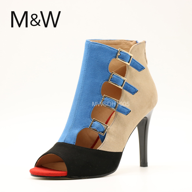 Factory new design of women joint high heel sandals